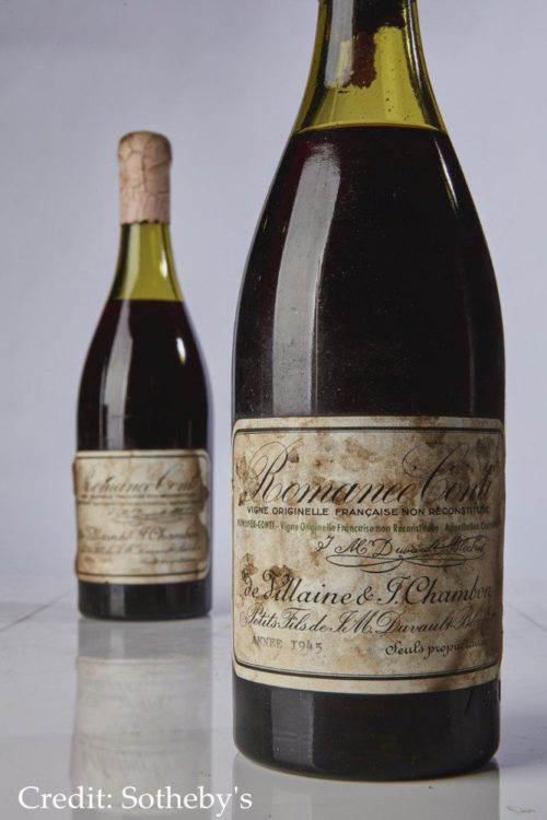 French Burgundy wine fetches sold for a record $558,000 at Sotheby auction