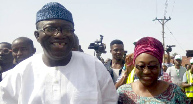 Kayode Fayemi and his wife Bisi