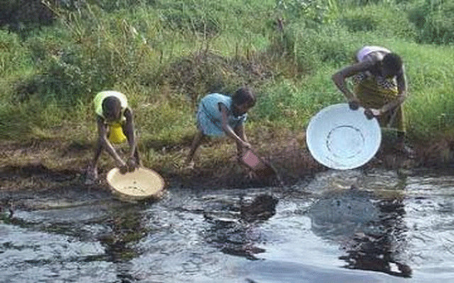 Ogoni land, polluted with oil spills