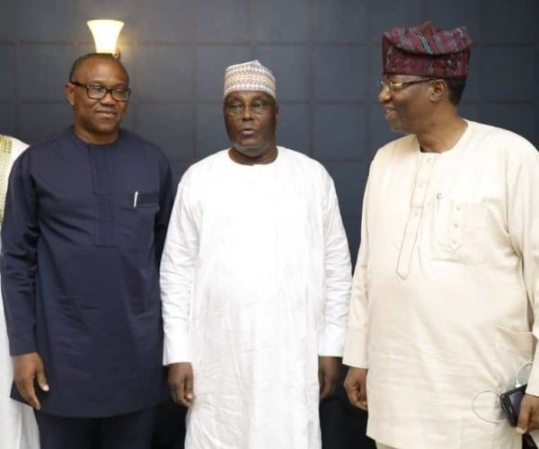 Peter Obi, Atiku and Gbenga Daniel: trouble over running mate