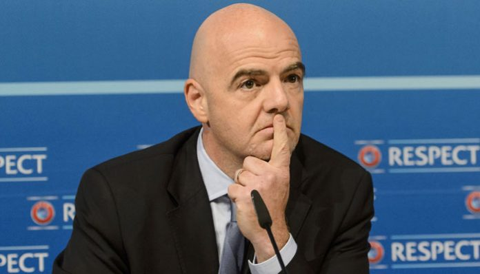 FIFA President Gianni Infantino: accused of helping PSG, Manchester City breach UEFA's FFF rules while at UEFA