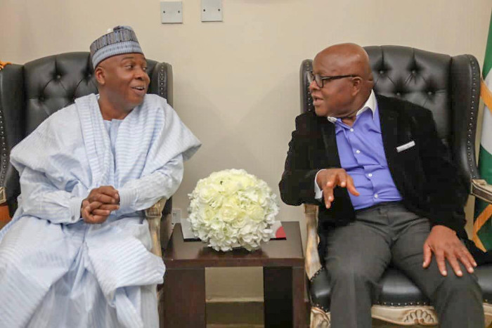 Saraki with Mike Acquaye of Ghana