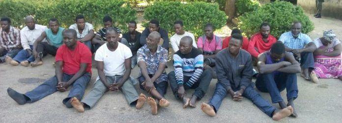 The 19 suspects arrested in connection with the disappearance and death of General Idris Alkali