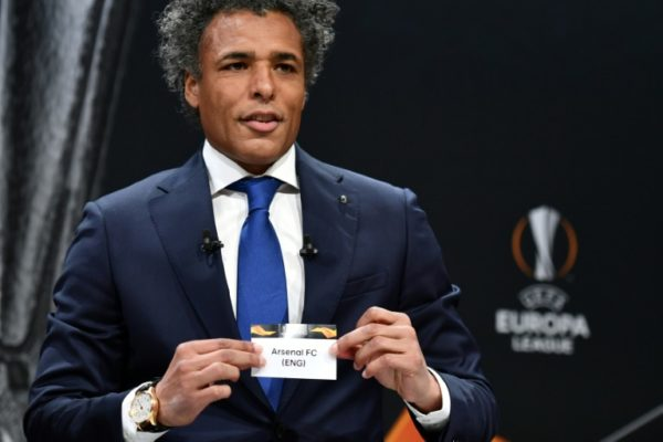 Pierre van Hooijdonk, former Dutch striker pulled Arsenal's name out of the hat